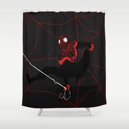 Ultimate Spider-man Miles Morales Shower Curtain