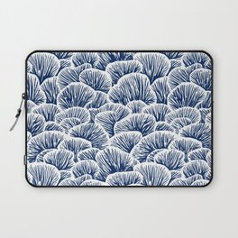 Mushroom Pattern - Dark Blue Laptop Sleeve