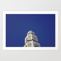 Santorini Churches III Art Print