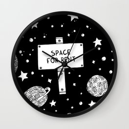 Space for rent Wall Clock