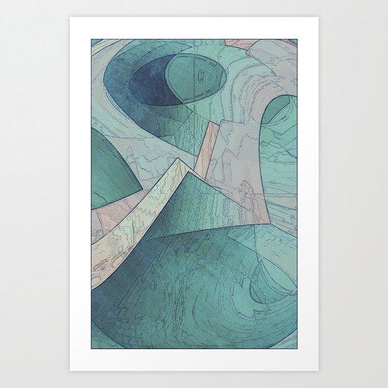 Pastel Abstract Shapes Art Print
