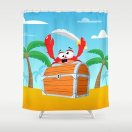 Pirate Crab Shower Curtain