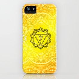 Solar Plexus Chakra Mandala iPhone Case