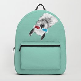 Sneaky Llama with 3D Glasses #01 Backpack