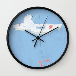 Gone Ice Fishin' Wall Clock