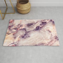 Pink marble texture effect Rug