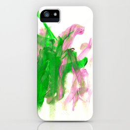 First paint abstract by Keira iPhone Case