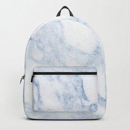 Stylish chic navy blue white elegant glitter marble Backpack
