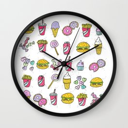Cheeseburgers Forever Wall Clock