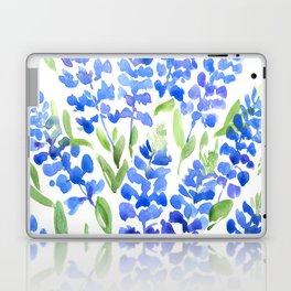 Watercolor Texas bluebonnets Laptop & iPad Skin