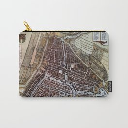 Replica city map of Rotterdam 1652 Carry-All Pouch