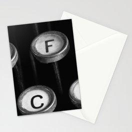 typewriter keys Stationery Cards
