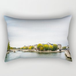 Seine river at Saint Louis island confluence in Paris Rectangular Pillow