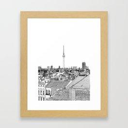Berlin Illustration Framed Art Print