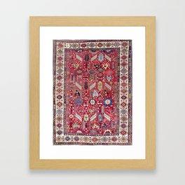 Shekarlu Qashqa'i Fars Southwest Persian Carpet Print Framed Art Print