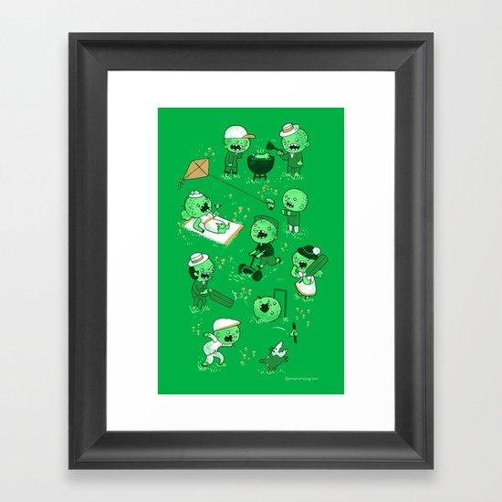 Lawn of the dead Framed Art Print