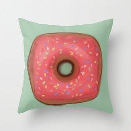Sprinkle Donut Throw Pillow
