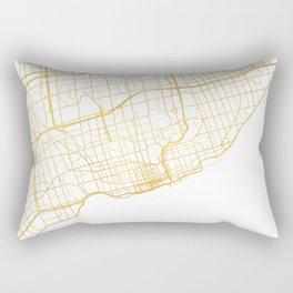 TORONTO CANADA CITY STREET MAP ART Rectangular Pillow