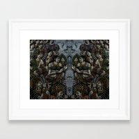 buddhism Framed Art Prints featuring Buddhism by gustav butlex
