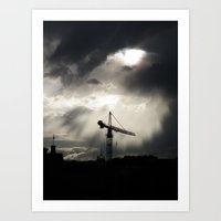 Heavens Opening Art Print