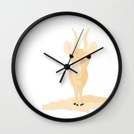Saiga antelope Wall Clock