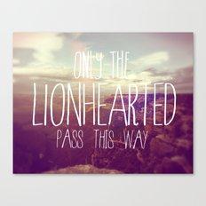LIONHEARTED // Canvas Print
