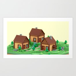 voxel hamlet Art Print