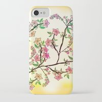 cherry blossoms iPhone & iPod Cases featuring Cherry Blossoms by famenxt