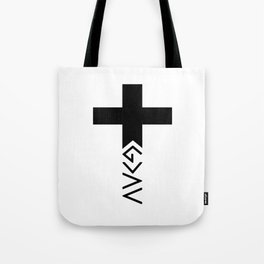 God is greater than the highs and lows Cross Tote Bag