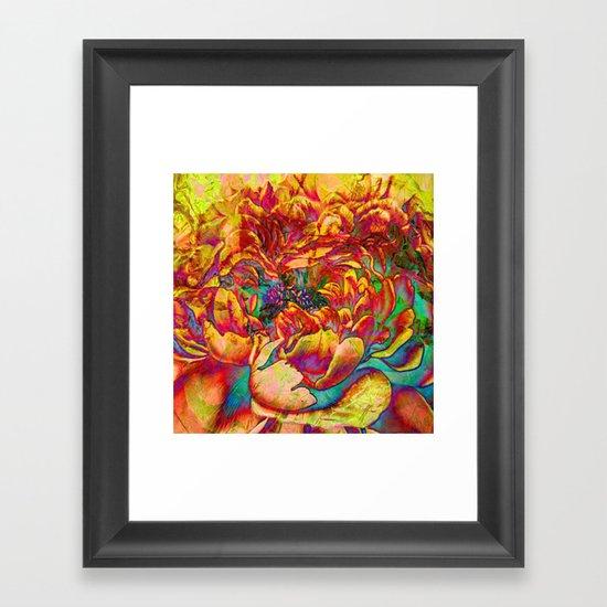 abstract peony Framed Art Print