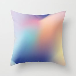 Gradient flow Throw Pillow