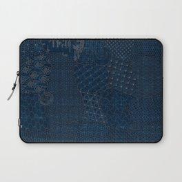 Sashiko - random sampler Laptop Sleeve