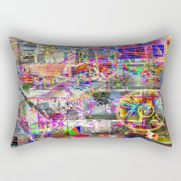 Some (More) Of That Olde Skool Bullmess (or, Four? Shit! That Ain't A Thing...) (Recombinant Series) Rectangular Pillow