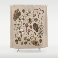 background Shower Curtains featuring Nature Walks (Light Background) by Jessica Roux