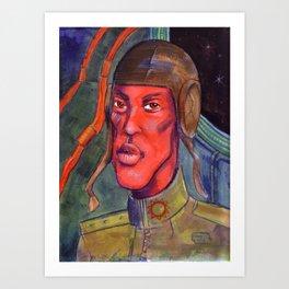Red Pilot Art Print