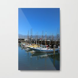 Fishing Boats At Fisherman`s Wharf - San Francisco Metal Print