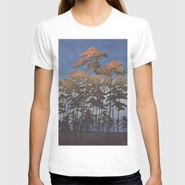 Hasui Japanese Woodblock Print - Hikawa park in Omiya T-shirt