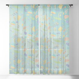 An Aquatic Life Sheer Curtain