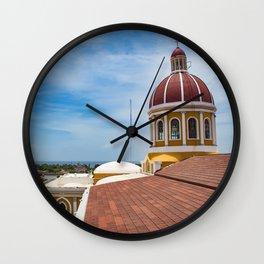 Looking towards Lake Nicaragua from Granada Cathedral Wall Clock