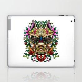 Pitbull Sugar Skull - Dias De Los Muertos Laptop & iPad Skin