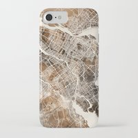 montreal iPhone & iPod Cases featuring Montreal by Map Map Maps