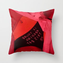 If you're reading this eat me Throw Pillow