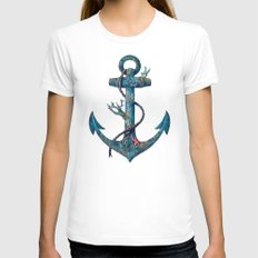 Lost at Sea Womens Fitted Tee LARGE White