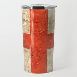 Vintage Aged and Scratched English Flag Travel Mug