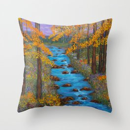 River of Change Throw Pillow
