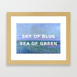 The Sea and the Alps in a Yellow Submarine Framed Art Print