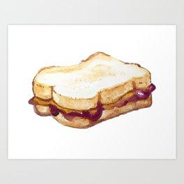 PBJ Sandwich Art Print