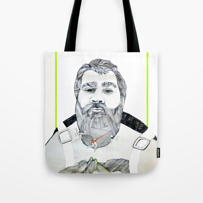 Man with a beard Tote Bag