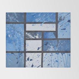 Movin with Pollock, Mondrian & Haring  Throw Blanket