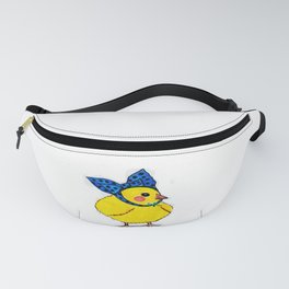 Baby Chick Wears a Blue Bow Fanny Pack